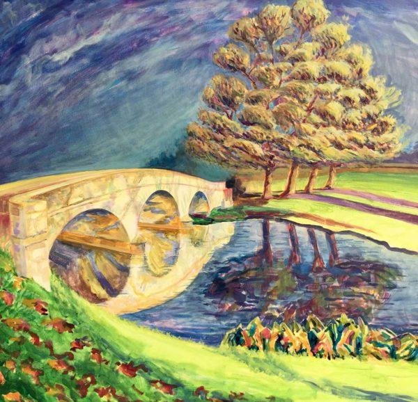 Holdiford Road Bridge. Acrylic on Canvas by Richard Bostock