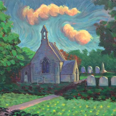Church Richard Bostock Fine Art Staffordshire