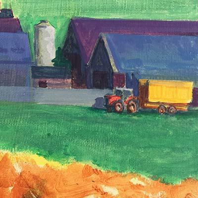 Farm Richard Bostock Fine Art Staffordshire