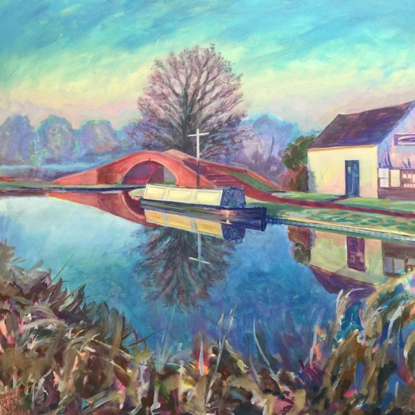 Winter's Morning in Great Haywood. Acrylic on Canvas by Richard Bostock