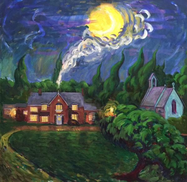 A Warm Welcome Awaits Me. Acrylic On Canvas by Fine Artist Richard Bostock