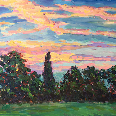 Sunrise Acrylic On Canvas by Fine Artist Richard Bostock