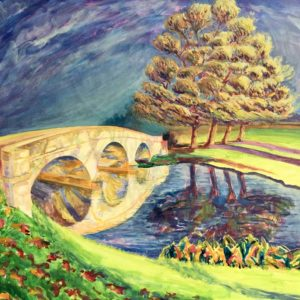 Holdiford Road Bridge. Acrylic on Canvas by Richard Bostock