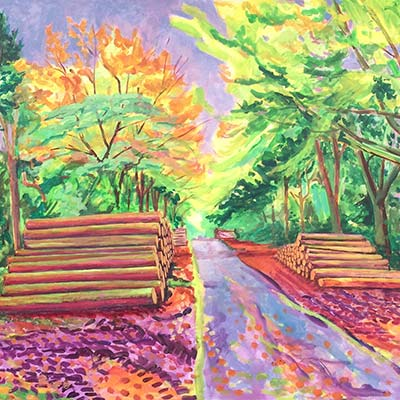 Pavilion Woods at Ingestre. Richard Bostock Fine Art Staffordshire