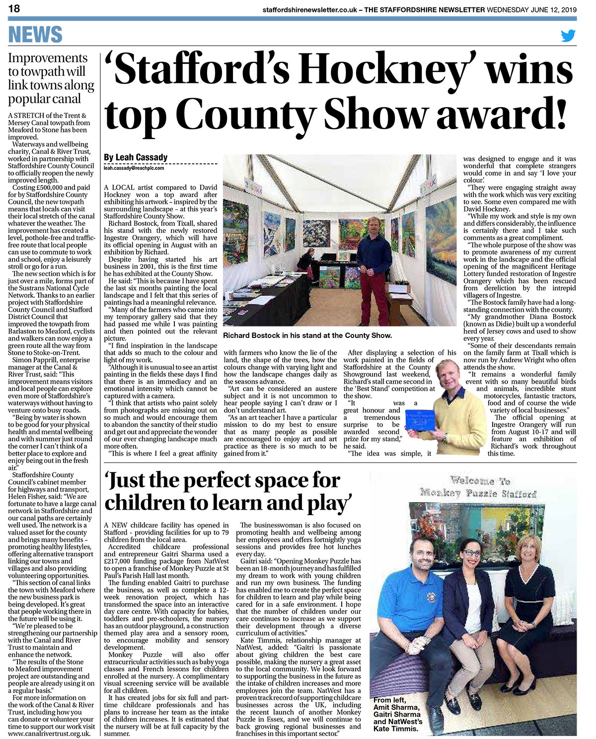 Staffordshire County Show Award 2019 - Richard Bostock
